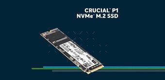 Crucial P1 de 1 To : quelles performances pour un SSD M.2 (NVMe) avec des puces 3D QLC ?