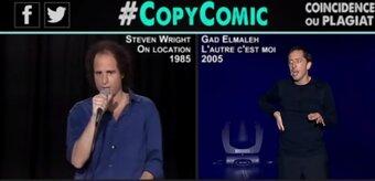 Épinglé pour plagiat, Gad Elmaleh accuse CopyComic de contrefaçon