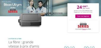Bbox : hausses de prix, jusqu'à 500 Mb/s en upload et intégration de Canal+ Series