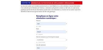 Attestation numérique de déplacement : le formulaire officiellement disponible