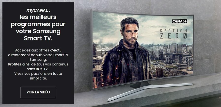 mycanal d barque sur certaines tv samsung 2016 uniquement pour les nouveaux abonn s. Black Bedroom Furniture Sets. Home Design Ideas