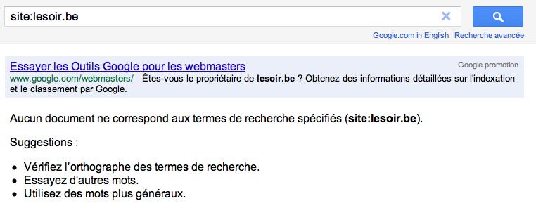 Google Dereference La Presse Belge De Son Moteur De Recherche