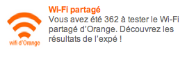 Orange Wifi partagé