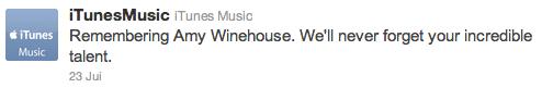 Twitter amy winehouse apple