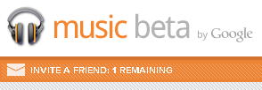 Google Music Invitation