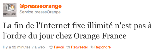 Orange internet illimite
