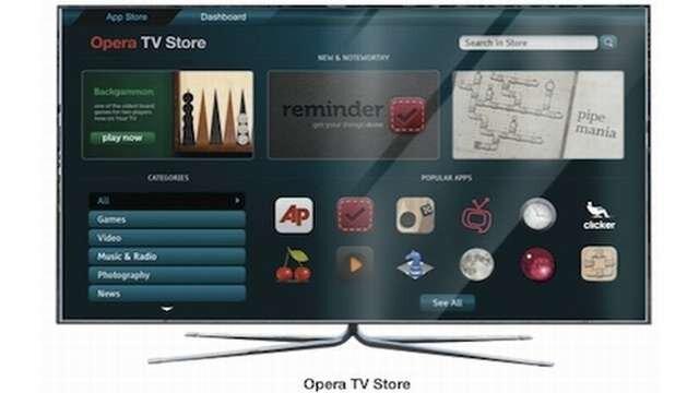 Opera TV Store : des applications web pour TV connectées