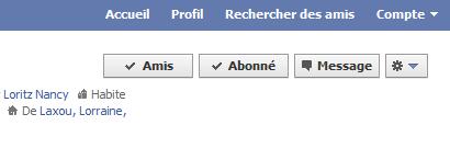 Facebook amis abonné