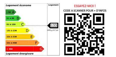 DPE QR Code bilan energétique bien immobilier