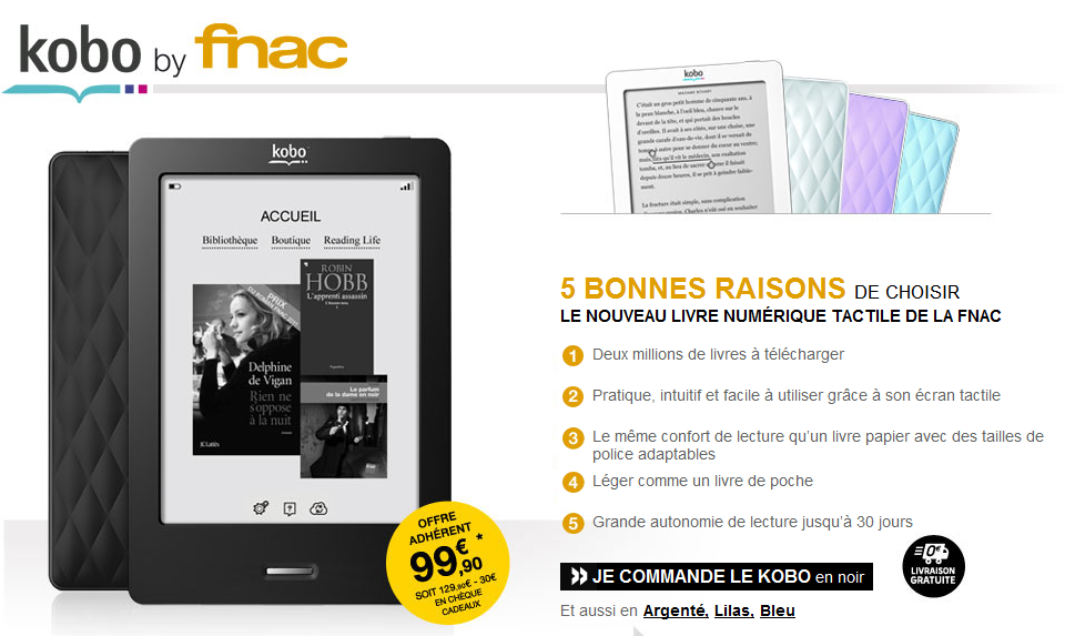 telecharger kobo by fnac pour mac