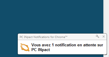 Extension Chrome Notifications PC INpact