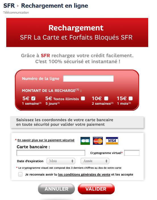 archive  sfr carte recharge paiement facebook