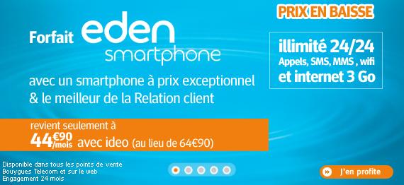 Ideo smartphone Eden Bouygues Telecom