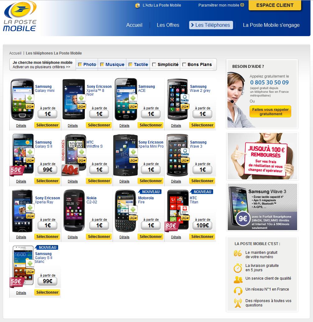 archive  la poste mobile baisse telephones free