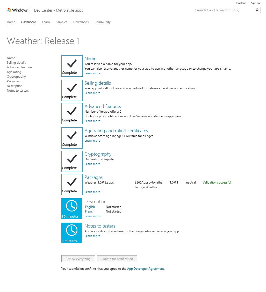 Microsoft Détaille La Publication D'une Application Dans Le Windows Store