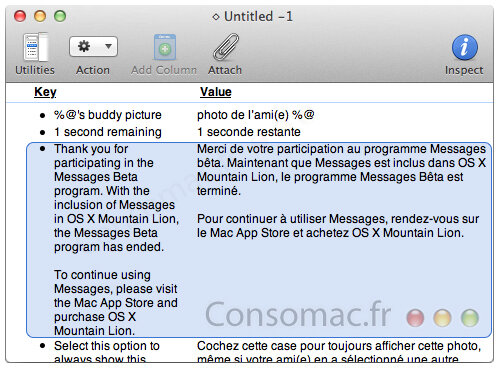 messages mountain lion