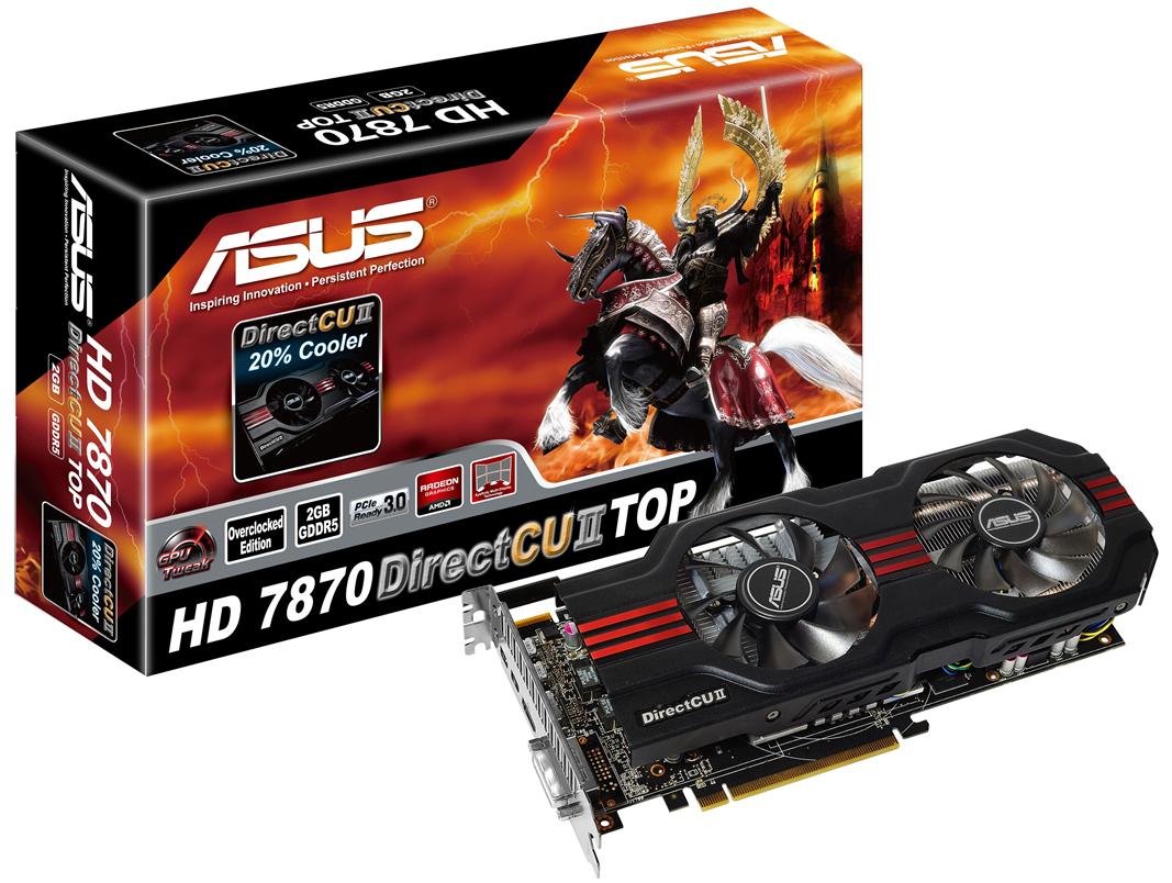 Asus : Quatre Radeon HD 7850 Et HD 7870 Dont Deux Modèles