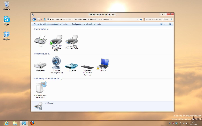 Windows 8 device center en b ta pour les p riph riques - Open office en francais pour windows 8 ...
