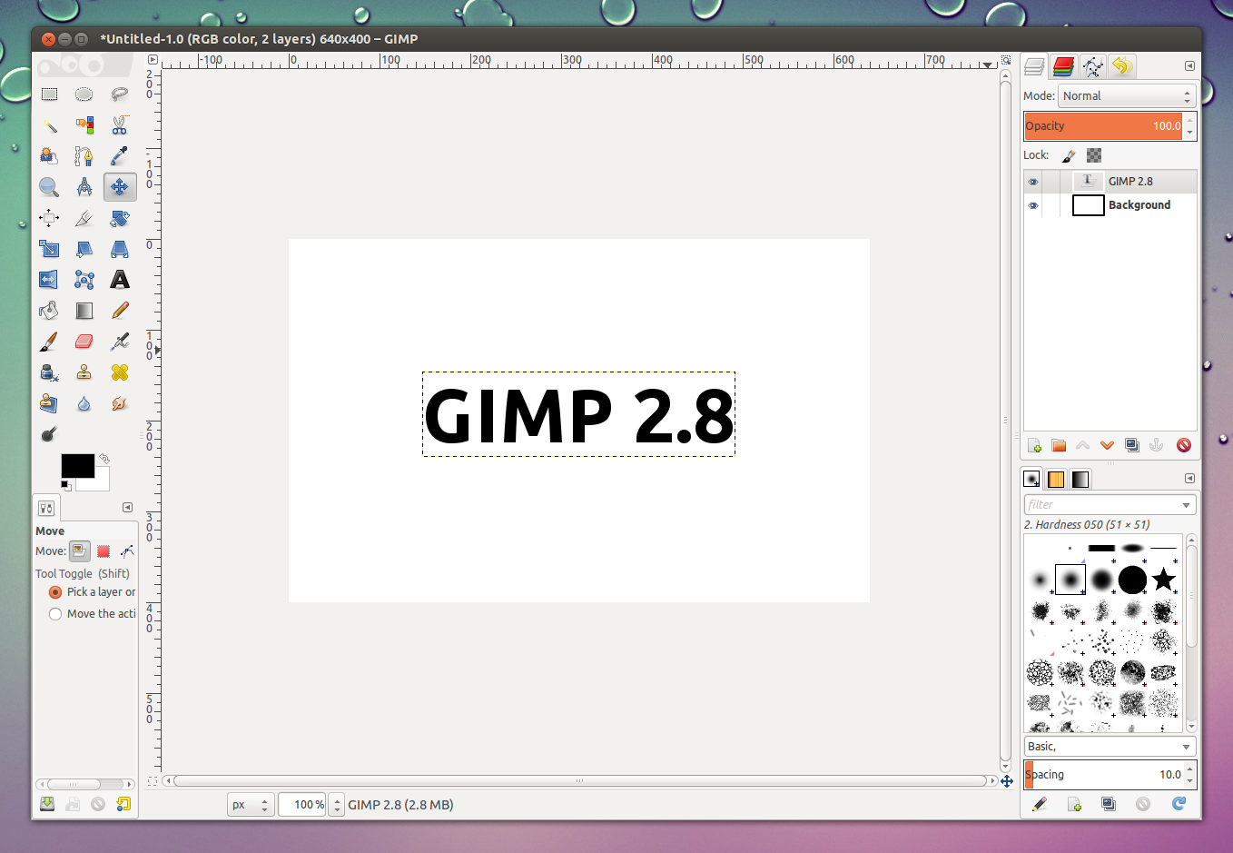 The gimp 2 8 inaugure une nouvelle interface fen tre unique for Afficher fenetre calque gimp