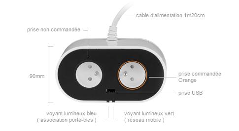 orange lance my plug une prise connect e qui se commande par sms. Black Bedroom Furniture Sets. Home Design Ideas
