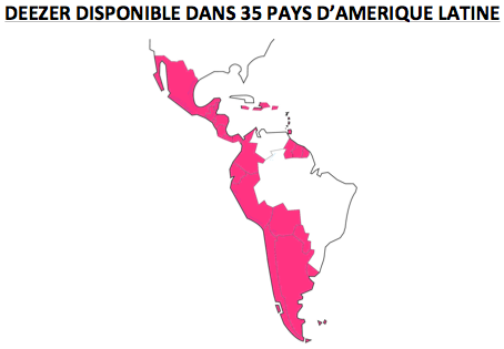 Deezer Amerique Latine