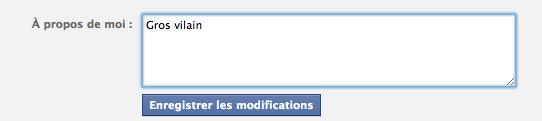 facebook profil vilain