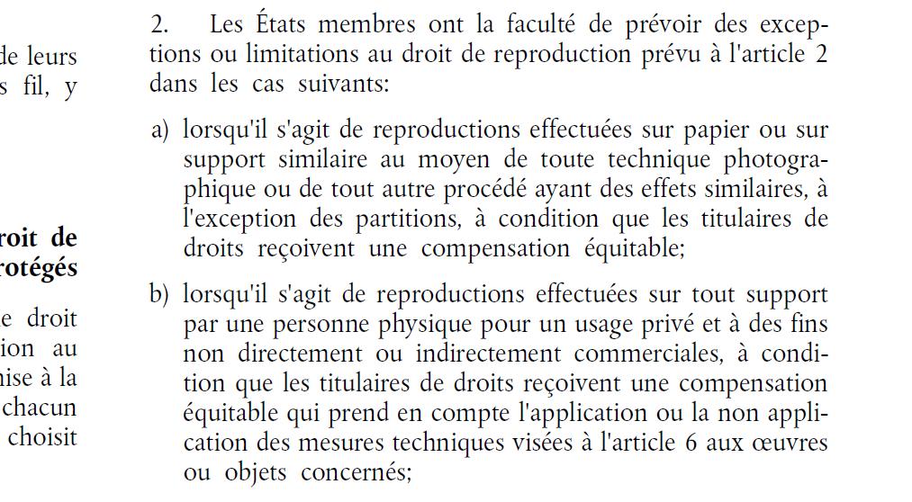 directive art 5 2 b