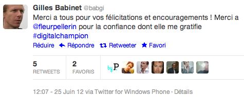 gilles babinet tweet
