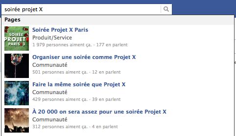 projet x facebook