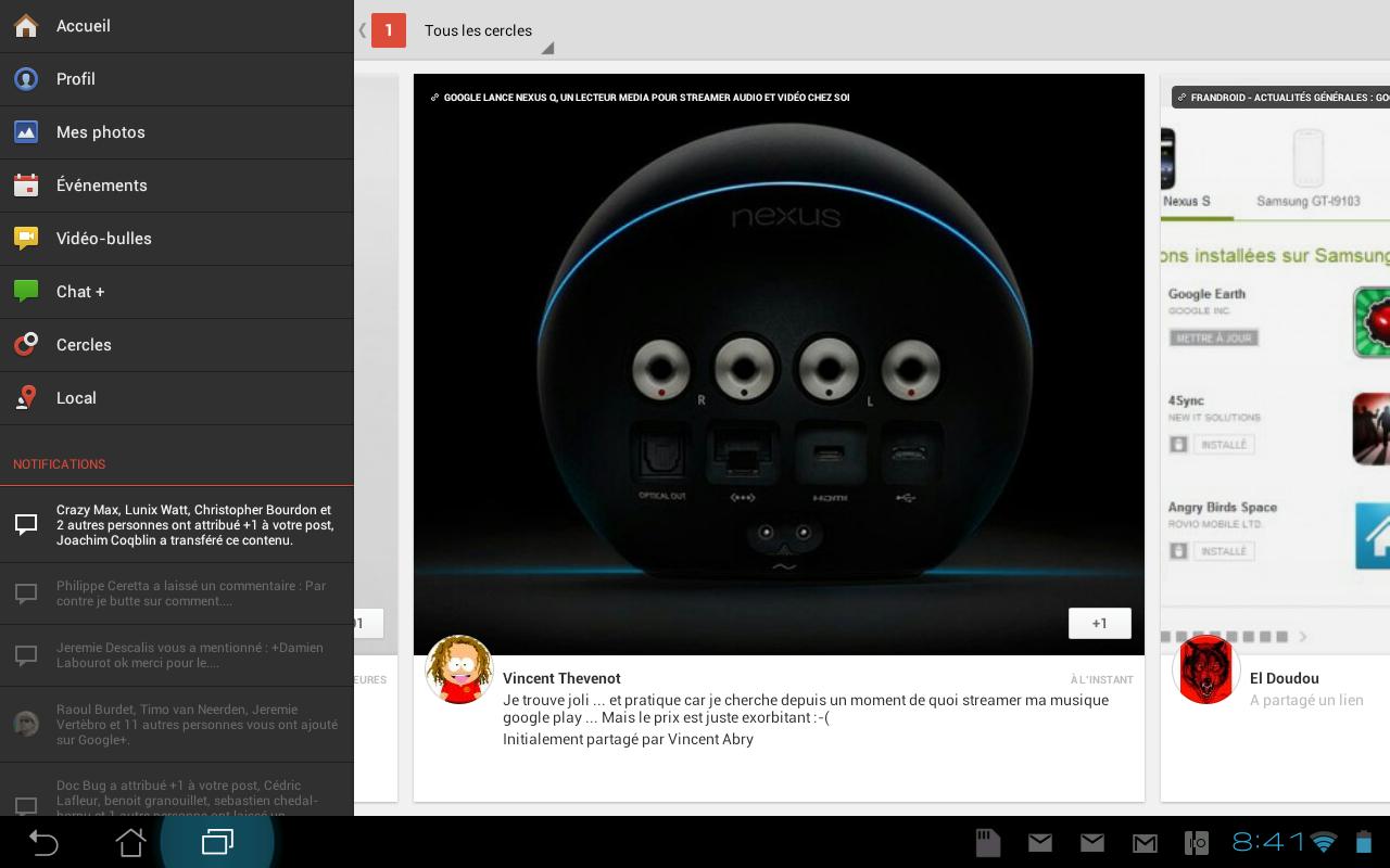 google une nouvelle application android d di e aux tablettes. Black Bedroom Furniture Sets. Home Design Ideas