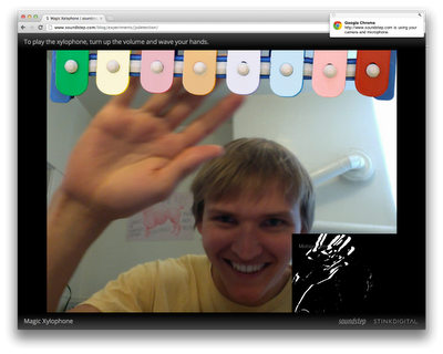 Magic Xylophone Chrome getUserMedia API