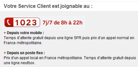 SFR hotline