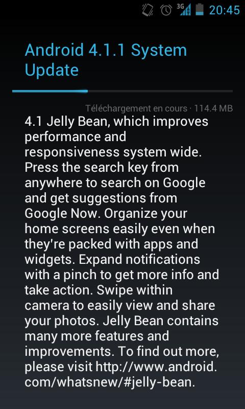 android 4 1 1 jelly bean se d ploie sur les nexus s de google en france. Black Bedroom Furniture Sets. Home Design Ideas