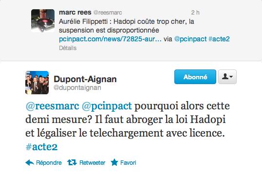 tweet dupont aignan