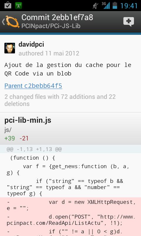 GitHub Android 1.1