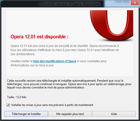 Opera 12.01