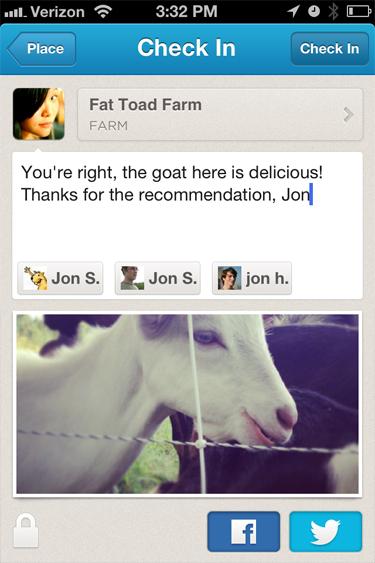 Foursquare Tag