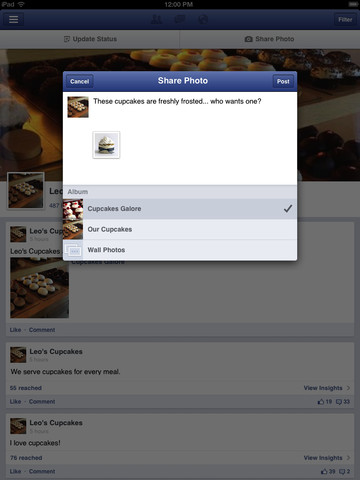 facebook pages manager ios