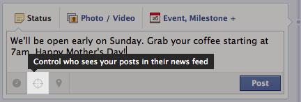 facebook ciblage publication