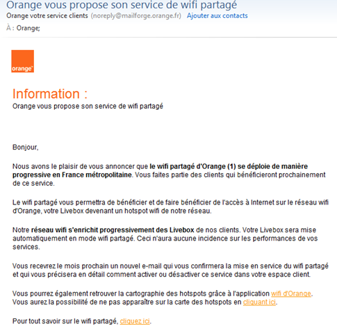 Wi fi partag orange continue d 39 tendre son service - Comment augmenter la portee du wifi livebox ...