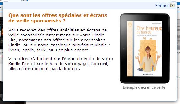 Kindle Publicité