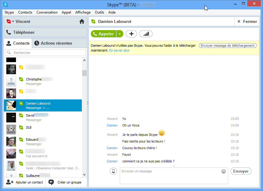 Rencontre avec adresse skype