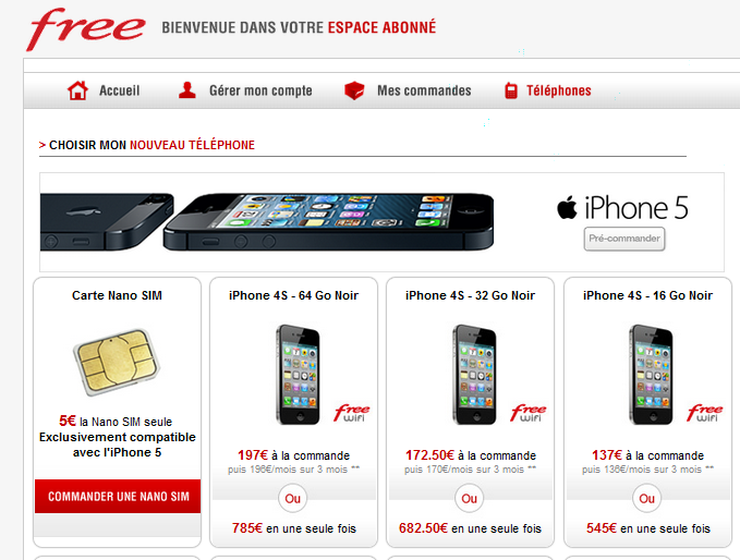 iphone 5 quid de la disponibilit de la nano sim chez les op rateurs. Black Bedroom Furniture Sets. Home Design Ideas