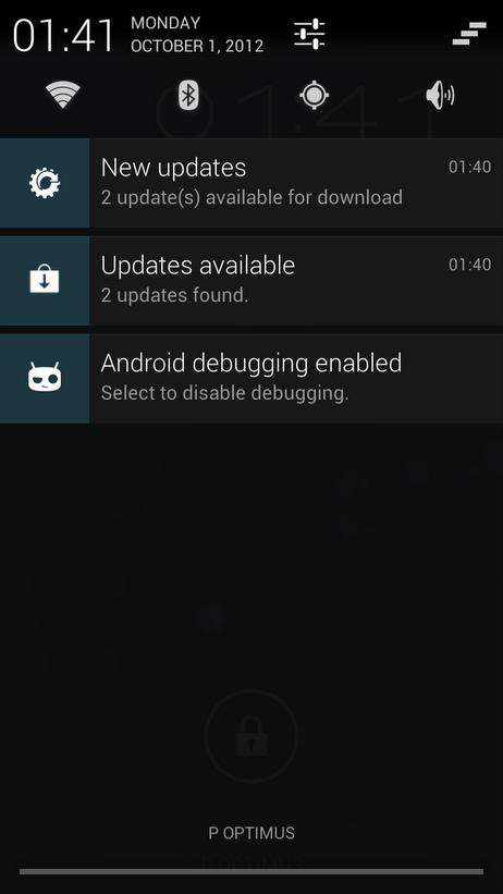 cyanogenmod mise a jour ota