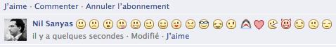 Facebook smilies