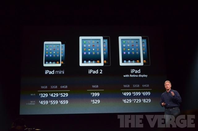 Apple iPad mini prix