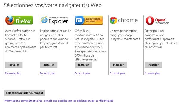 Ballot screen navigateurs Windows 8