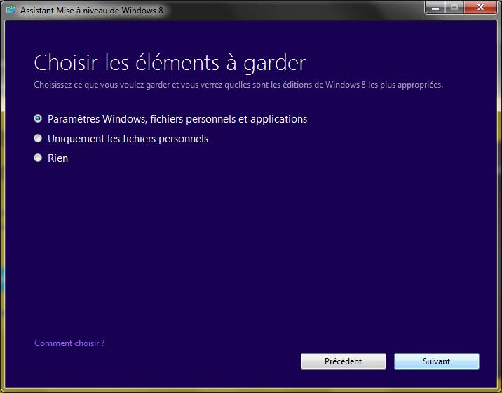 Windows 8 rencontre un probleme