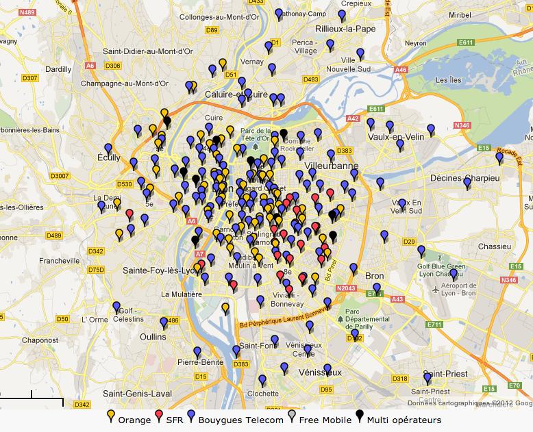 le point sur les villes fran aises disposant d 39 antennes 4g lte ce jour. Black Bedroom Furniture Sets. Home Design Ideas