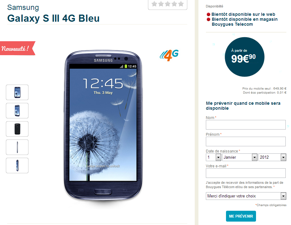siii 4g bouygues
